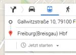Screenshot Google Maps ÖPNV