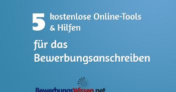 Online Hilfe Bewerbungsanschreiben