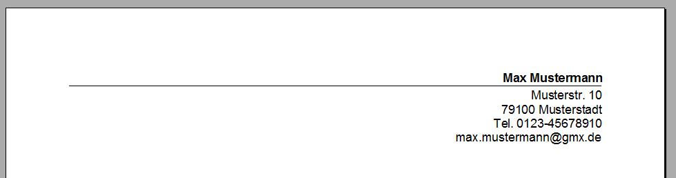bewerbungsanschreiben briefkopf layout 1