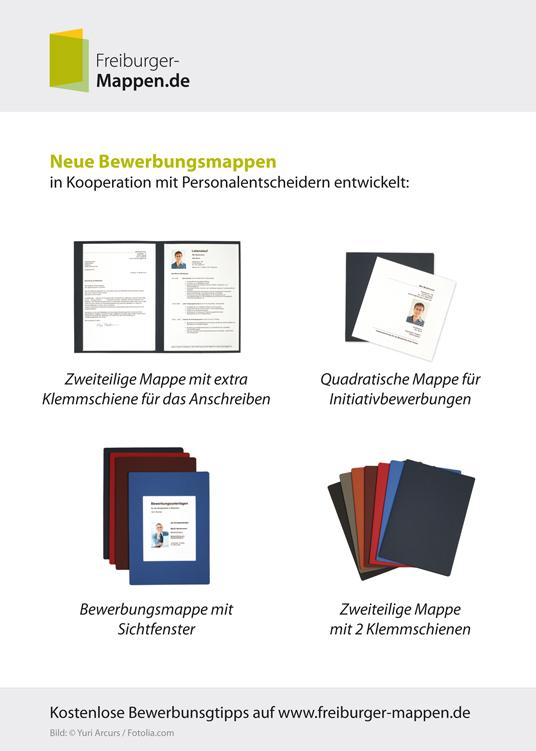 Bewerbungsmappen Von Freiburger Mappende Vorgestellt