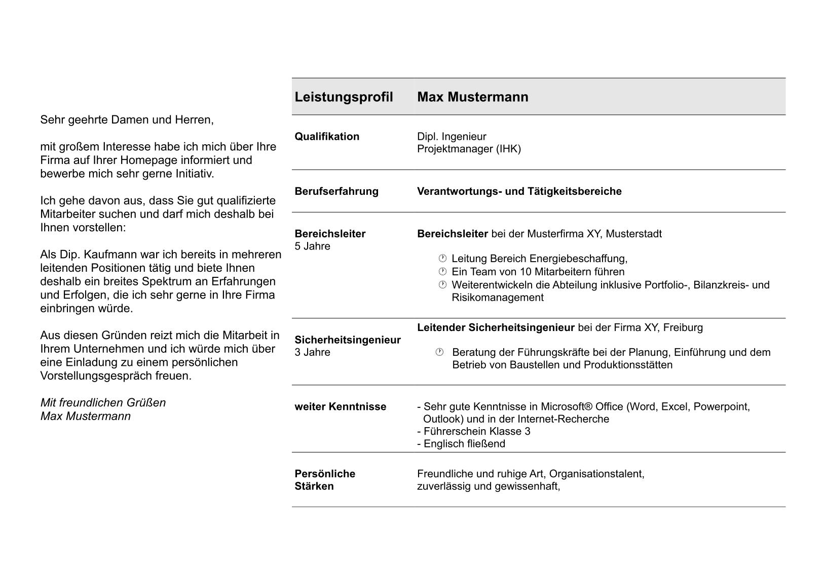 Bewerbungsflyer - alle wichtigen Infos zusammengefasst