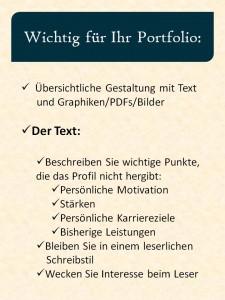 Portfolio Tipps
